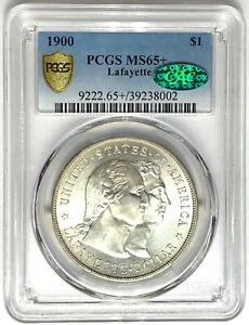 Click now to see the BUY IT NOW Price! 1900 LAFAYETTE SILVER DOLLAR PCGS MS65  CAC   PLUS GRADE $1  39238002