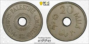 Click now to see the BUY IT NOW Price! KEY IN HIGH GRADE PALESTINE KM5 20 MILS 1941  DATE PCGS AU 55 GOLDSHIELD