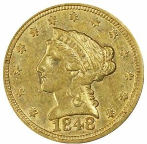 Click now to see the BUY IT NOW Price! 1848 $2.50 GOLD LIBERTY CAL. PCGS AU58