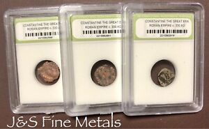 SLABBED ANCIENT ROMAN CONSTANTINE THE GREAT COINS NICE QUALITY C 330 AD