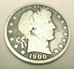 1900 O BARBER HALF DOLLAR   AG OR BETTER    90  SILVER