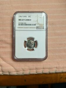 1967 ROOSEVELT 10C SMS NGC MS67 CAM