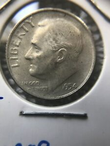 1954 S DOUBLE ERROR SILVER ROOSEVELT DIME   MISSING DESIGNERS INITIALS AND S/S