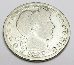 1907 O BARBER HALF DOLLAR    G   GOOD     90  SILVER     FREEE SHIPPING
