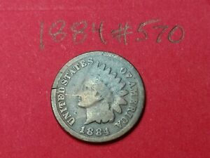 1884   US INDIAN HEAD CENT PENNY 570