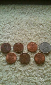 13 LINCOLN CENT ERRORS AND 1 NICKEL  1983 DATE ERROR  1990 DDR   1996 IN GREASE