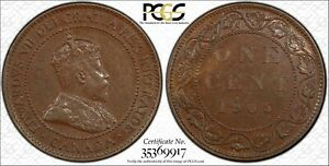 1905 CANADA LARGE CENT PCGS MS 62 BN 1C