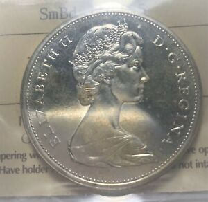 1965 CANADIAN QUEEN ELIZABETH  SILVER DOLLAR PL 65 CERTIFIED BY ICCS    TYPE 1