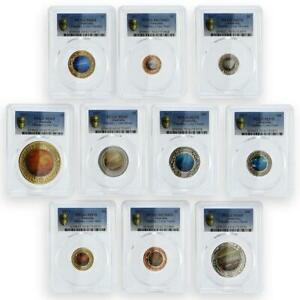 Click now to see the BUY IT NOW Price! AUSTRALIA SET OF 10 COINS PLANETARY COINS MARS SUN EARTH MS69 4 MS70 6 PCGS 2017