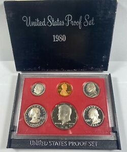 1980 US PROOF SET WITH BOX