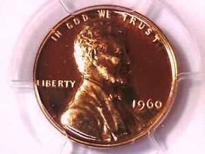1960 PROOF LINCOLN MEMORIAL CENT PENNY PCGS PR 68 SMALL DATE 26241928