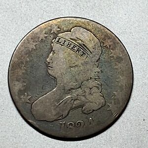 1824  CAPPED BUST HALF DOLLAR   AFFORDABLE KEY TYPE COIN