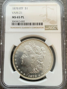 Click now to see the BUY IT NOW Price! AVC  1878 8TF VAM 21 MORGAN DOLLAR NGC MS65 PL   NGC POP 1/0 FINEST KNOWN