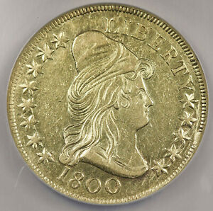 UNITED STATES 1800 CAPPED BUST $10 HERALDIC EAGLE NGC XF EARLY GOLD COIN