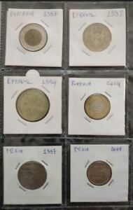 HUNGARY   RUSSIA   CYPRUS 6 COINS LOT