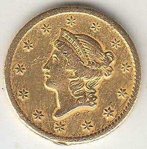 BETTER DATE 1849 O TYPE 1 GOLD DOLLAR XF  DETAILS