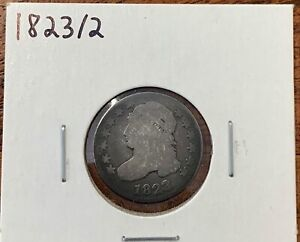 1823/2 CAPPED BUST DIME GOOD GD