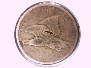 1858 FLYING EAGLE CENT GENUINE RAW UNGRADED 00641