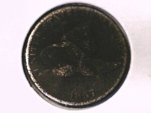 1857 FLYING EAGLE CENT GENUINE RAW UNGRADED 00404