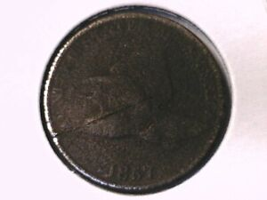 1857 FLYING EAGLE CENT GENUINE RAW UNGRADED 00406