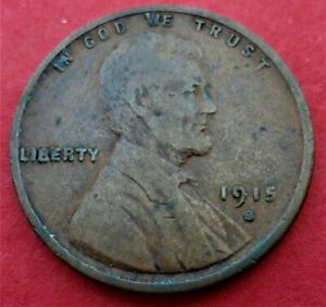1915 S LINCOLN WHEAT CENT FINE VF