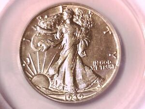 1939 D WALKING LIBERTY HALF DOLLAR ANACS AU 50 5060696