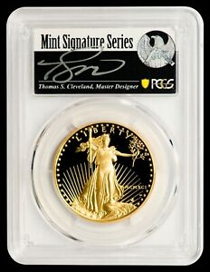 Click now to see the BUY IT NOW Price! 1991 W $50 GOLD EAGLE PCGS PR70DCAM   CLEVELAND AUTOGRAPHED LABEL   POP 2