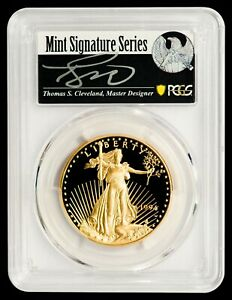 Click now to see the BUY IT NOW Price! 1994 W $50 GOLD EAGLE PCGS PR70DCAM   CLEVELAND AUTOGRAPHED LABEL   POP 2