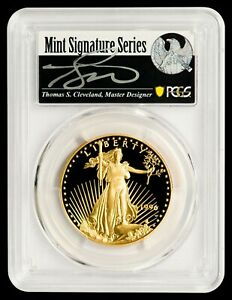 Click now to see the BUY IT NOW Price! 1996 W $50 GOLD EAGLE PCGS PR70DCAM   CLEVELAND AUTOGRAPHED LABEL   POP 4