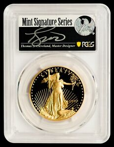 Click now to see the BUY IT NOW Price! 1997 W $50 GOLD EAGLE PCGS PR70DCAM   CLEVELAND AUTOGRAPHED LABEL   POP 2