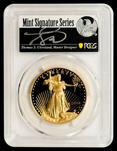 Click now to see the BUY IT NOW Price! 1999 W $50 GOLD EAGLE PCGS PR70DCAM   CLEVELAND AUTOGRAPHED LABEL   POP 4