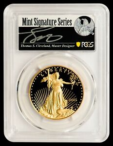 Click now to see the BUY IT NOW Price! 2001 W $50 GOLD EAGLE PCGS PR70DCAM   CLEVELAND AUTOGRAPHED LABEL   POP 2