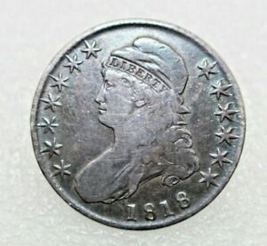 1818 BUST HALF DOLLAR   MADE INTO PIN