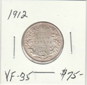 CANADA 1912 25 CENTS