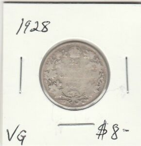 CANADA 1928 25 CENTS