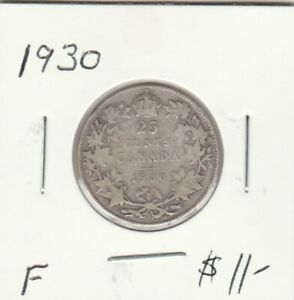CANADA 1930 25 CENTS