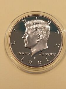 2002 S KENNEDY PROOF HALF DOLLAR IN COIN HOLDER