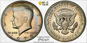 Click now to see the BUY IT NOW Price! 1978 P KENNEDY HALF DOLLAR PCGS MS64 COLOR BU UNC GORGEOUS CHOICE TONED
