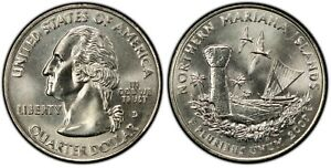 2009 D STATES AND TERRITORIES 25C / N MARIANA IS / CIRCULATING QUARTER / VF AU