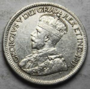 CANADA 1936 SILVER 10 CENTS NICE GRADE OLD DATE KGV  26D