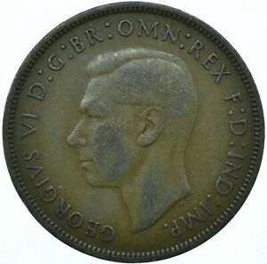 1937 ONE PENNY GB UK GEORGE VI NICE COLLECTIBLE     WT27854