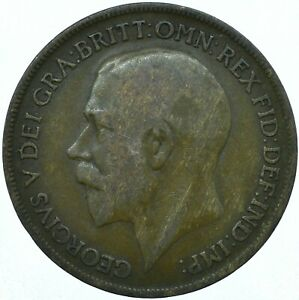 1920 ONE PENNY GB UK GEORGE V COLLECTIBLE COIN  WT27857