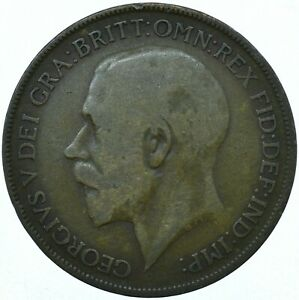 1921 ONE PENNY GB UK GEORGE V COLLECTIBLE COIN  WT27858