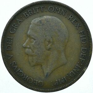 1929 ONE PENNY GB UK GEORGE V COLLECTIBLE COIN  WT27859