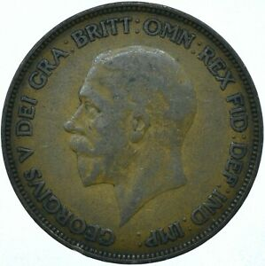 1928 ONE PENNY GB UK GEORGE V COLLECTIBLE COIN  WT27862