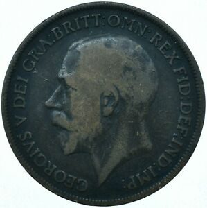 1913 ONE PENNY GB UK GEORGE V COLLECTIBLE COIN  WT27864