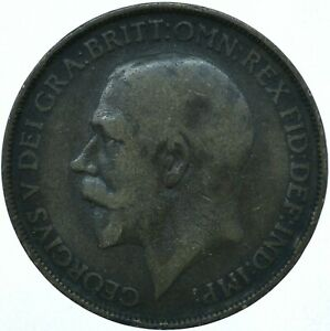 1912 ONE PENNY GB UK GEORGE V COLLECTIBLE COIN  WT27865