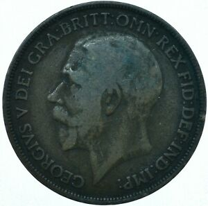1918 ONE PENNY GB UK GEORGE V COLLECTIBLE COIN  WT27866