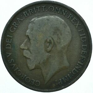 1921 ONE PENNY GB UK GEORGE V COLLECTIBLE COIN  WT27867