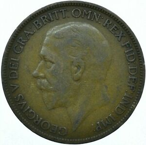 1927 ONE PENNY GB UK GEORGE V COLLECTIBLE COIN  WT27871